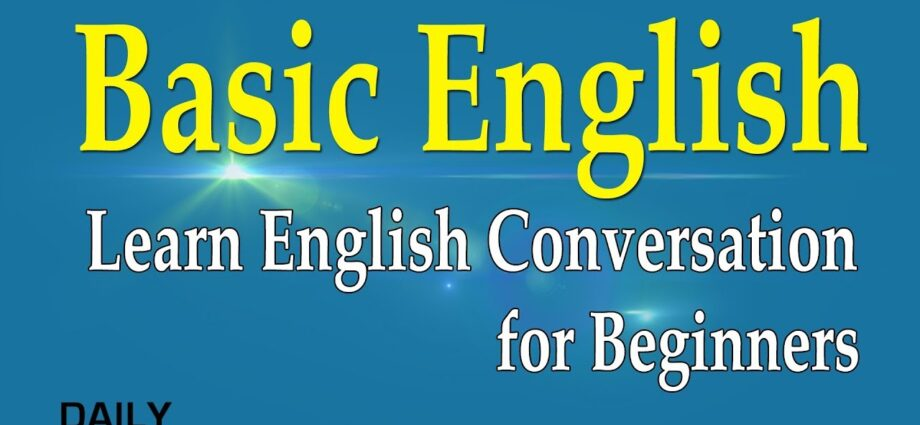 basic English lessons for beginners